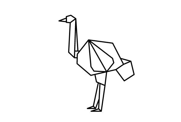 折纸风格的动物图标 svg